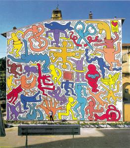 """K. Haring""""Tutto mondo"""" a Pisa"""